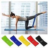 Yeelight Bandas de fitness / Bandas de resistencia Set 5, ideal para el desarrollo muscular, fisioterapia, pilates, yoga, gimnasia y crossfit, cinta de gimnasia, bandas de fitness 500 x 50 cm