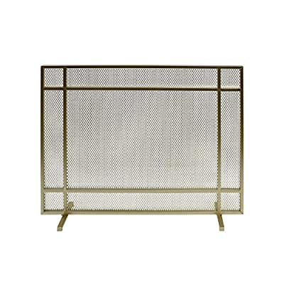 Christopher Knight Home Markus Modern Single Panel Iron Firescreen, Gold Finish by Great Deal Furniture