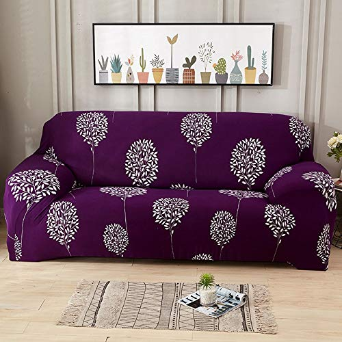 Funda de sofá elástica con Estampado Floral, Fundas elásticas Protectoras para Muebles, Fundas de sofá, Fundas de sofá para Sala de Estar, A5, 4 plazas