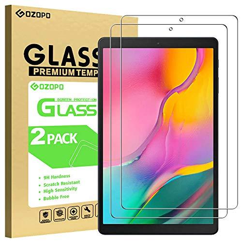 GOZOPO - Protector de pantalla para Galaxy Tab A 10.1 pulgadas 2019 Modelo SM-T510/T515 [2.5D Edge] Samsung Tab A 10.1 2019 película de vidrio templado/antiarañazos/alta definición