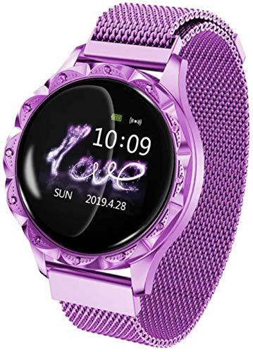 Reloj inteligente para mujer, resistente al agua, pulsera deportiva, recordatorio inteligente para uso diario, color morado
