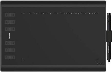 HUION New 1060 Plus Tableta gráfica Gráfica Tableta de Dibujo 10 x 6.25 Inches con 8192 Niveles Presión del pen 8GB SD Card 12 Express Keys - Versión mejorada