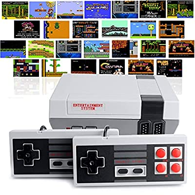Retro Classic Game Console, Mini Classic Game System Built-in 620 Classic Handheld Games and 2X 4 Classic Edition Controller Av Output Video Games by Augltair