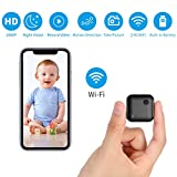1080P Mini Spy Camera WiFi Hidden Camera with Audio Live Feed Home Security Camera Nanny Cam Wireless with Cell Phone App Night Vision Motion Detection Remote View