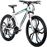 Galano 650B MTB Hardtail Mountainbike 27,5 Zoll Primal Fahrrad Mountain Bike (weiß/blau, 48 cm)