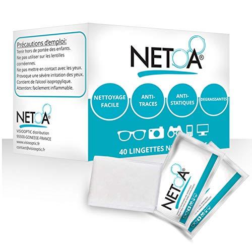 Netoa ® ️ Toallitas limpiadoras 160 piezas para todo tipo de gafas, gafas de vista, solares, prismáticos, smartphone, tableta, pantalla de ordenador, laptop, pantalla lcd, iPhone, iPad, Samsung.
