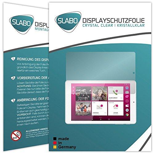 Slabo 2 x Bildschirmschutzfolie für Telekom Puls Bildschirmschutz Schutzfolie Folie Crystal Clear KLAR
