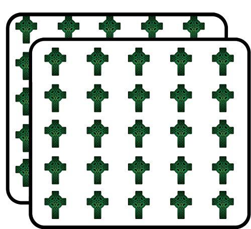 Green Celtic Cross Sticker for Scrapbooking, Calendars, Arts, Kids DIY Crafts, Album, Bullet Journals 50 Pack