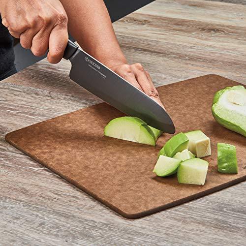 Kyocera Revolution Ceramic Knife Set, 4 PIECE (knives only), Black Handle w/Black Blades
