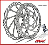 JGbike Elite 2pc 160mm 180mm 203mm 6 Bolts Bicycle Disc Brake Rotors for Shimano MT200 M315 DEORE MTB BMX XC Trail, e-Bike, Fat Bike Hydraulic disc Brakes by Stainless Steel