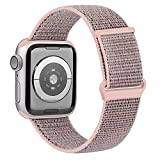 OUBK Correa Compatible con Apple Watch 44mm 42mm 38mm 40mm,Pulseras de Repuesto de Correa para iWatch Series SE 6 5 4 3 2 1,Mujer y Hombre(38mm/40mm,Rosa Sand)