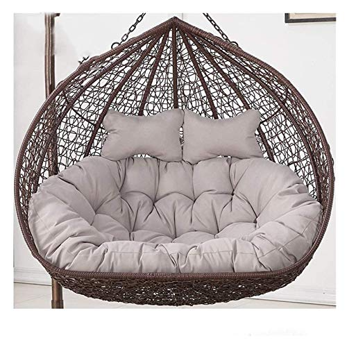 ZHZH Outdoor/Indoor Furniture Chair Cushion Rattan Swing Chair Cushions, Swing Hanging Basket Seat Cushioning for Garden Patio Outdoor (Color : Gray)