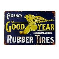 【USA アメリカン デザイン】TIRE タイヤ ガレージ サインボード ビンテージ バイカー インテリア 看板 ; AVSB-403