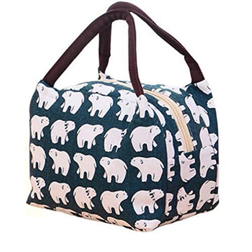 PENVEAT Lunchtasche mit Muster, tragbar, isoliert, Canvas, Lunchtasche für Frauen, Kinder