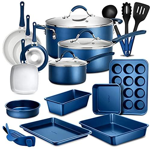 NutriChef 20 Piece Nonstick Kitchen cookware set