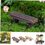 3pcs / Set Mini Hada del Jardín En Miniatura del Paisaje Bonsai DIY Adornos Bancos Retro