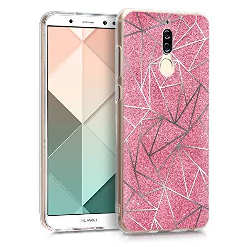 kwmobile Huawei Mate 10 Lite Hülle - Handyhülle für Huawei Mate 10 Lite - Handy Case in Splitter Glitzer Design Silber Pink