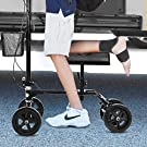 Giantex Folding Knee Scooter with Basket, Steerable Knee Walker Deluxe Crutch Alternative, Non-Slip Foam Knee Pad, Dual Braking System, Medical Knee Scooter Cycles for Foot Ankle Injuries #2