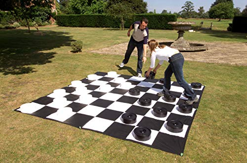 Giant outdoors checkers set