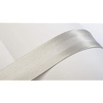 Prym 20 mm Lurex Bias Binding Silver – per metre + Free