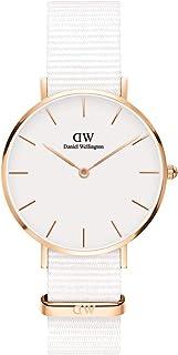 Daniel Wellington Petite Dover, orologio da donna bianco e oro rosa, 32 mm, Nato