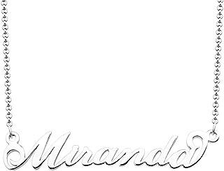 miranda name necklace
