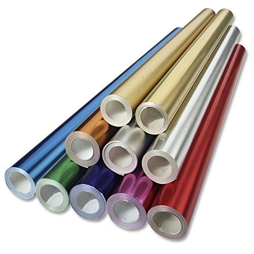 folia R 1 - Alufolie auf Rolle, einseitig kaschiert, ca. 50 cm x 10 m, gold - ideal zum Basteln und Verpacken