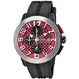 [テンデンス] 腕時計 ドーム レッド文字盤 TY016005 並行輸入品 ブラック