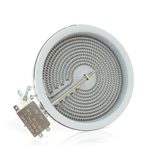 E.G.O 10.54111.004 HiLight Strahlungsheizkörper mit Ø140 mm und 1200 Watt EGO