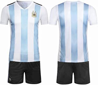 Argentina Team 2018 FIFA World Cup Football Jersey suits Short-sleeved T-shirt -code