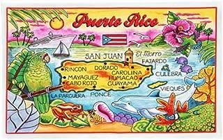 Puerto Rico Map Cotton Tea Kitchen Towel 19