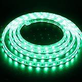 XUNATA 50m Tiras LED Verde, 220V SMD 5050 60LEDs/m, IP67 Impermeable, Escalera de Techo Tira de LED Cocina Cable Luces Flexible LED Strip Light Decoración