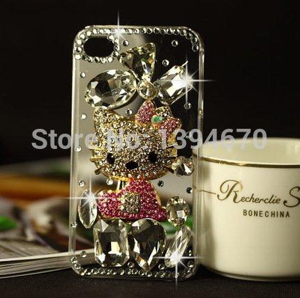 Bling Cristal Diamante de teléfono móvil F de Protectora para iPhone 44S...