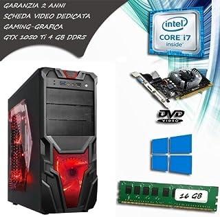 Pc fisso computer desktop intel core i7 - scheda video gtx 1650 4 gb gddr5 - ram 16 gb - ssd 120 hdd 1tb