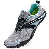 L-RUN Womens Running Waterproof Shoes Outdoor Sneaker Grey Women_9, Men_7.5 M US