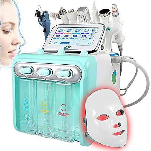 YJF-MRY 8-En-1Hydro Oxygen Facial Machine Multifunción Small Bubble Beauty Machine Cuidado De La Piel Máquina De Limpieza para Apretar La Piel Rejuvenecimiento Hidratante