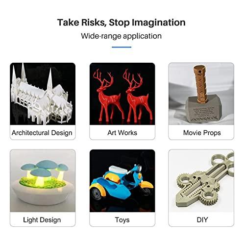 Flashforge 3D Printer Adventurer 3C Auto nivelación desmontable y calefacción plataforma 3D impresora casas, escuela construir volumen 5.906x5.906x5.906in