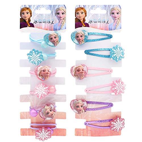 WENTS Horquilla Frozen 12PCS Accesorios para el Pelo Niña Adornos Azul Elsa Princesa Accesorios de Disfraces para el Cabello Regalos Originales para Niñas para Vestir a niñas pequeñas