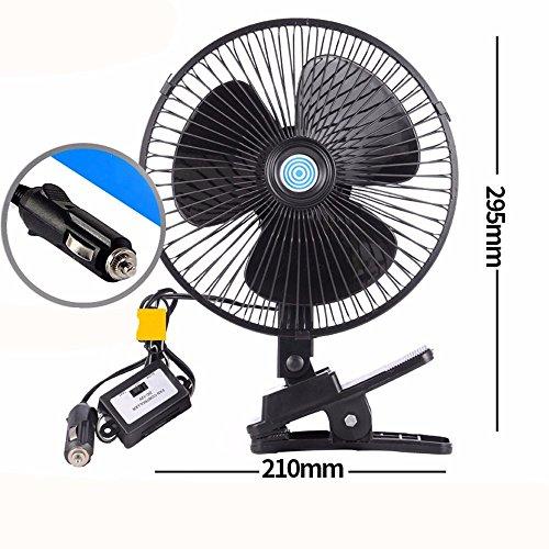 JISHUQICHEFUWU Ventilateur électrique Voiture Automobile/climatisation/Voiture avec Un Coup d'air Frais/réfrigérant fournit 8 Pouce Moteur 12Black