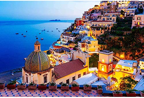 Puzzles for Adults 1000 Piece Jigsaw Puzzles 1000 Pieces for Adults Kids Large Puzzle Game Toys Gift Amalfi Coast 27.5x 19.6
