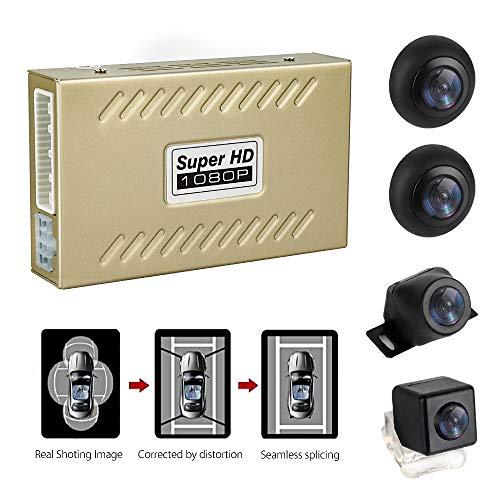 WeniChen 360 Grad Vogelblick Auto Parkhilfe Panoramablick Allround 4 HD Kamera System mit DVR Parküberwachung Fahraufzeichnung für alle Autos ...
