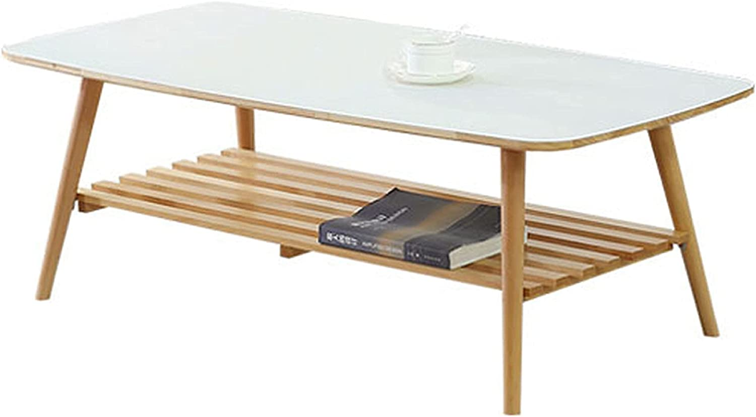 WUDAXIAN New product! New type Ranking TOP5 Double Layer Solid Wood with Large Shelve Table Coffee