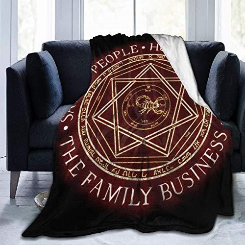 Manta de Franela Tela de Cepillo Extra Suave Súper cálida Mantas para sofás acogedora y Ligera La Trampa del Diablo de la Empresa Familiar