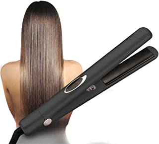 2 in 1 Hair Straightener and Curler, Multi-Function Straight Hair Infrared Negative Ion Professional Salon Clips 3D Floati...