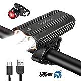 Nestling®Luz Bicicleta,Luz Bicicleta LED Recargable USB con 4 Modos 2400...