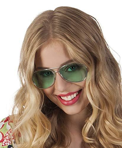 TH-MP Gafas de sol de aviador de los años 70 y 80, unisex, accesorio para disfraz
