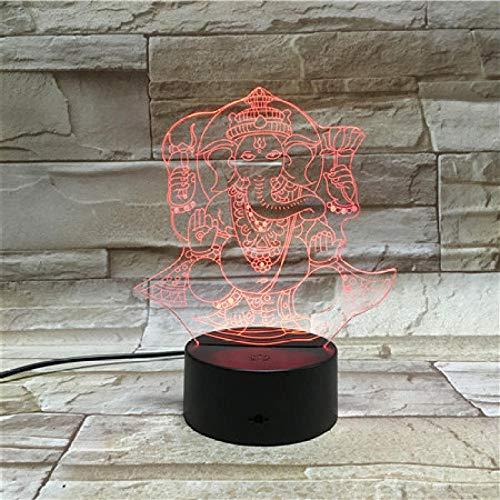 3D Luz Nocturna Led LED Luces nocturnas Hindu cast feelings mejor regalo de para niños y niñas Con interfaz USB, cambio de color colorido
