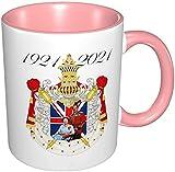 Taza de la Reina Elizabeth II y el Príncipe Felipe Reino Unido, rosa