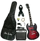 Glen Burton GE56BCO-RDS Electric Guitar Double Cut Style, Redburst