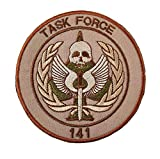 Call of Duty Task Force 141 Elite SAS Team Member Military Patch Fabric Embroidered Badges Patch Tactical Stickers for Clothes with Hook & Loop (color3)
